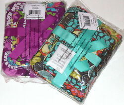 NWT Vera Bradley COSMETIC TRIO Lot Small Medium Large makeup pouch case bag
