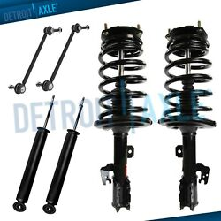 Toyota Sienna Struts Assembly + Shocks + Sway Bar Links Fits Front And Rear Fwd
