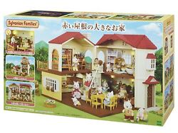 New Epoch Sylvania Family Home A Big House With A Red Roof Ha-48 Toy From Japan