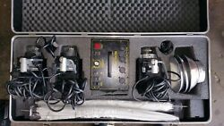 Novatron Strobe Light Sets With Umbrellas And Carrying Case Used