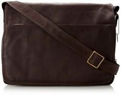 Leather Messenger Bag w Padded Laptop Section & Adjustable Strap [ID 756598]