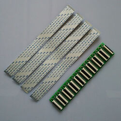 10 X Ffc Fpc 50pin To 50pin 0.5mm Pitch Ribbon Cable Zif 20cm+adaptor Extend