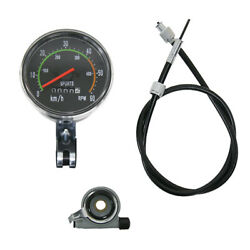 Vintage Old Style Speedometer Fits 49cc 60cc 80cc Motorized Bicycle Motor Kh