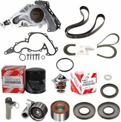 Genuine Timing Belt Water Pump Tensioner Thermostat Kit For Toyota Tundra 4.7l