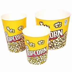 Cinema Style Popcorn Buckets All Quantities And Sizes Wholesale Boxes