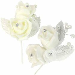 Premium Foam Buttonholes And Corsages With Pearls And Diamante. Wedding