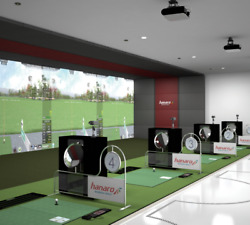 30'x20' Commercial Indoor Golf Simulator Custom Sizes Available Life Like Course