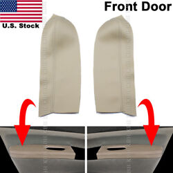 Fits 04-09 Toyota Prius Front Door Panel Armrest Leather Replacement Cover Beige