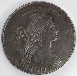 1800 1c Draped Bust S-203 Large Cent Anacs Au Details Corroded