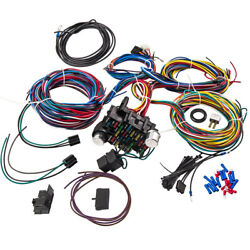Long Universal 21 Circuit Wiring Harness For Chevy Ford Jeep Hot Street Rods