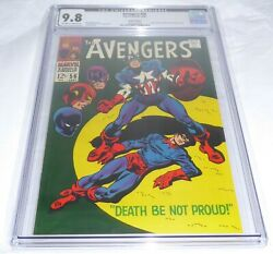 Avengers #56 CGC 9.8 Twin Cities Pedigree Captain America Buck Barnes B. Zemo 💎