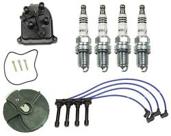 For Acura B18c Gsr Andtype-r Tune-up Kit Cap Rotor Ngk Wires And Iridium Plugs
