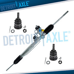 New Complete Power Steering Rack And Pinion + Lower Ball Joints 1984 Corvette