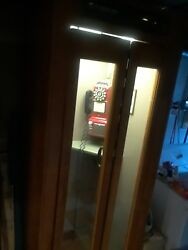 Working Telephone Booth Good Condition Wood Replica Phone And Stool Included