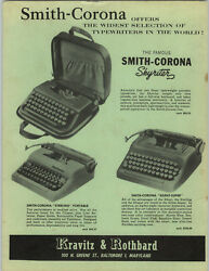 1957 Paper Ad Smith Corona Portable Typewriter Skyriter Silent Super Sterling