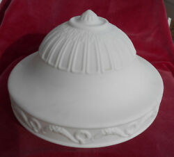 Vintage Antique Satin Glass Ceiling Shade Lamp White Large 11 1/2