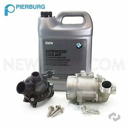 For Bmw 325i 328i 525i X3 Oem Electric Water Pump Kit And Antifreeze And Thermostat