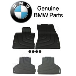 For Bmw X5 F15 F16 Genuine Front And Rear All Rubber Floor Mats 35dx 50ix 2014-up