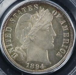 1894 10c Proof Barber Dime Pcgs Secure Grade And Cac Pr 66 Cam