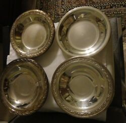 Lot Of 4 Silver Plated Reed And Barton, Wallace, Wm Rogers And Son Bon Bon Bowls 6