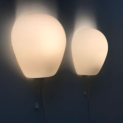 Pair Mid Century Wall Lamps Sconces 'wall Shell 2681' By Wilhelm Wagenfeld, 1952