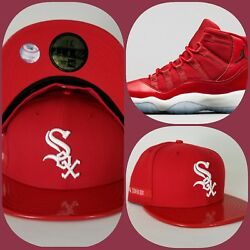New Era Chicago White Sox 59Fifty Fitted hat Jordan 11 Gym Red