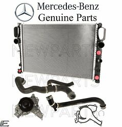 For Mercedes W211 E350 Radiator Upper And Lower Hoses Set And Water Pump Kit Genuine