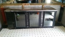 Refrigerated Back Bar Storage CabinetCooler 3 glass doors