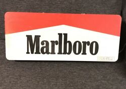 Rare Marlboro Electric Fluorescent Light Sign Double Sided 28andrdquox12andrdquo From 1995