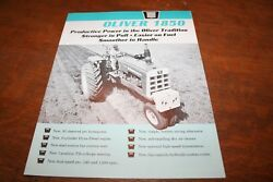 Oliver New 1850 Tractor Brochure 92 Pto Hp Row Crow 4wd Wheatland Rice 1964