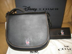 NWT Disney X Coach Mickey Mouse Limited 1st Edition Saddle bag &Turnlock wallet