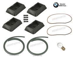 For BMW E39 5-Series Jack Pads w Bulb & Door Seal Black for Chassis Kit Genuine
