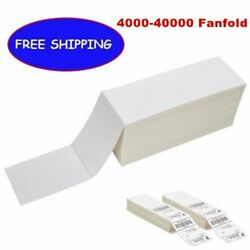 Fanfold 4 X 6 Direct Thermal Mailing Labels Zebra 2844 Fedex Ups Free Shipping
