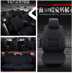 Hot! 3D Streamline Luxury Linen 5-Seats Car Seat Covers Cushion Front+Rear Row