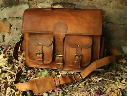 Leather Vintage Messenger Shoulder Men Satchel S Laptop School Briefcase Bag $57.00
