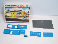Rare Plasticville O And S Gauge Bermuda Blue Ranch House 1852, Complete, Ob