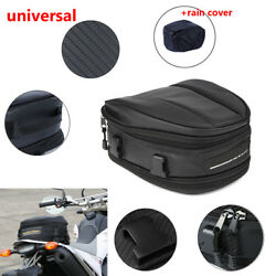 Motorcycle Waterproof Back Seat Carry Bag Luggage Tail Bag Black oxford cloth