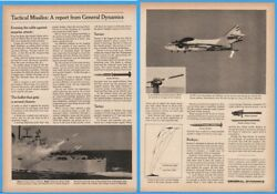 1966 General Dynamics Tactical Missile Report Red Eye Drone Terrier Navy Ship Ad