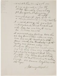 Autograph Letter Signed By Civil War Veteran - Praising George Armstrong Custer