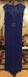Montage Blue Mother Of The Bride Groom Formal Dress Womens Size 10