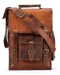 Bag Leather Vintage Messenger Shoulder Men 15quot;Satchel S Laptop School Briefcase $57.00