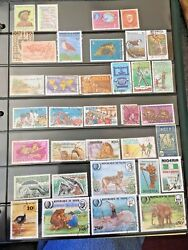 Asian And African Stamp Collection Stamps From Japan, India, China, Africa And Mor