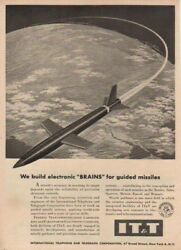 1957 Terrier~Talos~Sparrow~Guided Missile Brain IT&T Ad Rocket