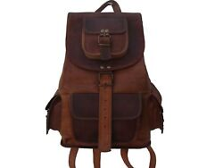 New Vintage Leather Travel Shoulder Women Satchel Backpack School Bag Handbag $53.00