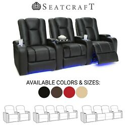 Seatcraft Serenity Leather Home Theater Seating Recliners Seat Chair Couch