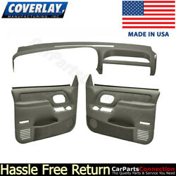 Coverlay - Dash Board Cover Door Panel Kit Taupe Gray 18-695c59f-tgr For C/k