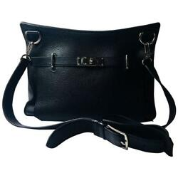 Hermes Black Large Jypsiere 34 Cross Body Bag
