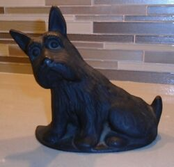 BLACK SCOTTIE  Terrier DOG ~ Heavy Metal  Cast Iron? Door Stop Figure