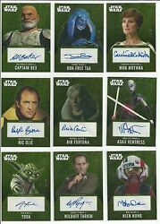 2016 Topps Star Wars Evolution Gold Parallel Autograph Card Serial Ed / 10