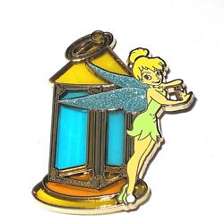 Rare Le 250 Disney Pin✿tinker Bell Tink Stained Glass Trapped Capt Hook Lantern